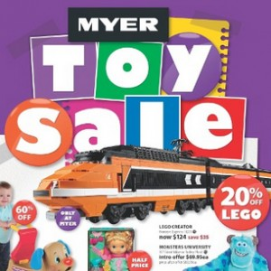 Myer 2013 Toy Sale