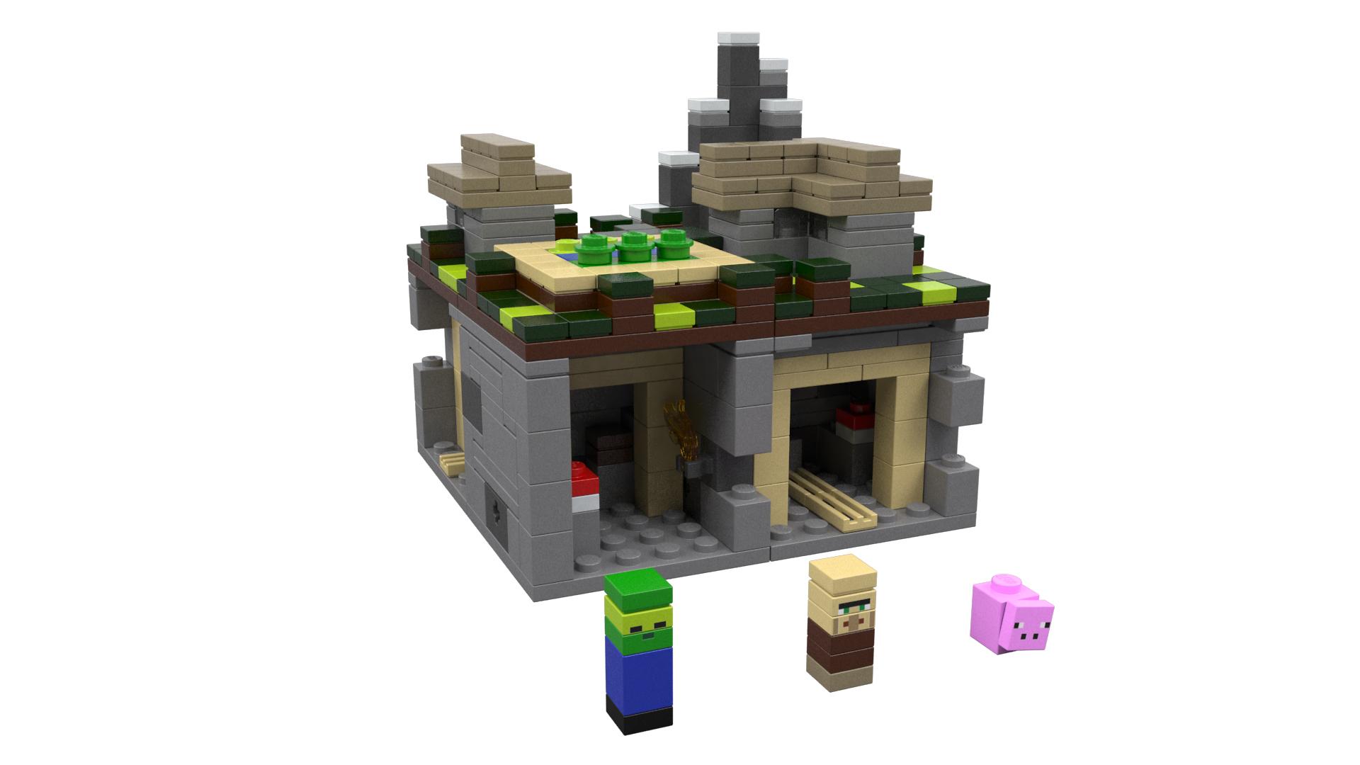 Cool Wallpaper Minecraft Zombie Pigman - LEGO-Minecraft-Village  Snapshot_386018.jpg