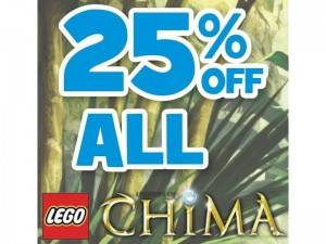 25 Percent Off LEGO Chima