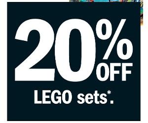 Target 20 Percent Off LEGO