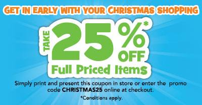 ToysRUs 25 Percent Off Offer