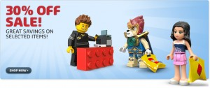 30 Percent Off LEGO Online