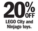Target 20 Percent Off City And Ninjago