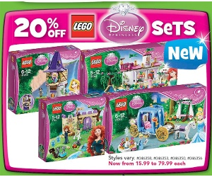 ToysRUS LEGO Disney Princess Sets