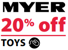 Myer 20pc Off Toys April 2014