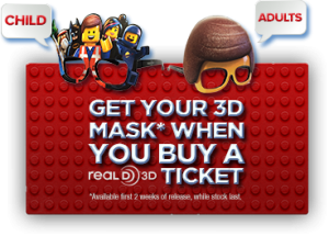 The LEGO Movie 3D Masks