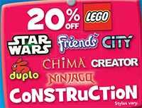 Toys R Us 20 Percent Off LEGO April 2014