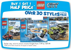 Buy 1 Get 1 Half Price City ToysRUs