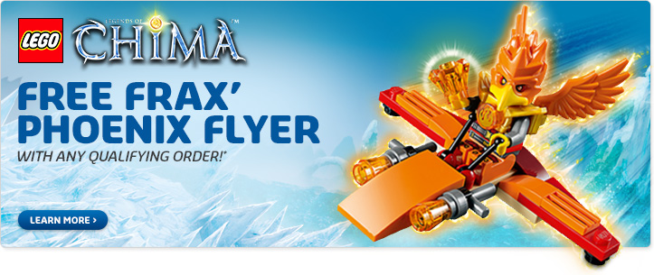 LEGO July Offer Free Frax Phoenix Flyer