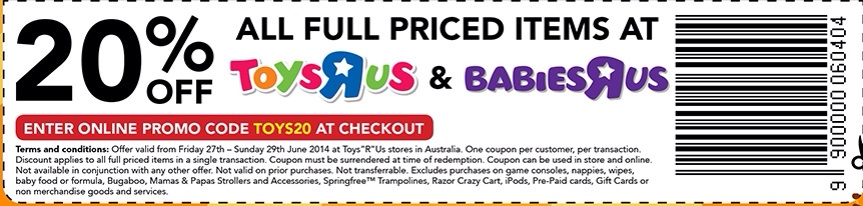 Toys R Us friends and family