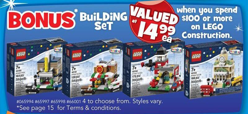 Toys R Us Bricktober Sets 2014