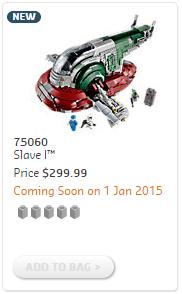 75060 UCS Slave I Price