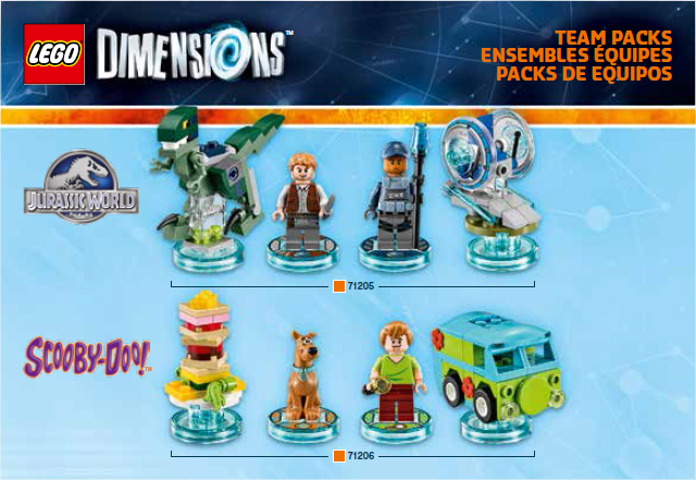 Scooby and Jurassic World Team Packs