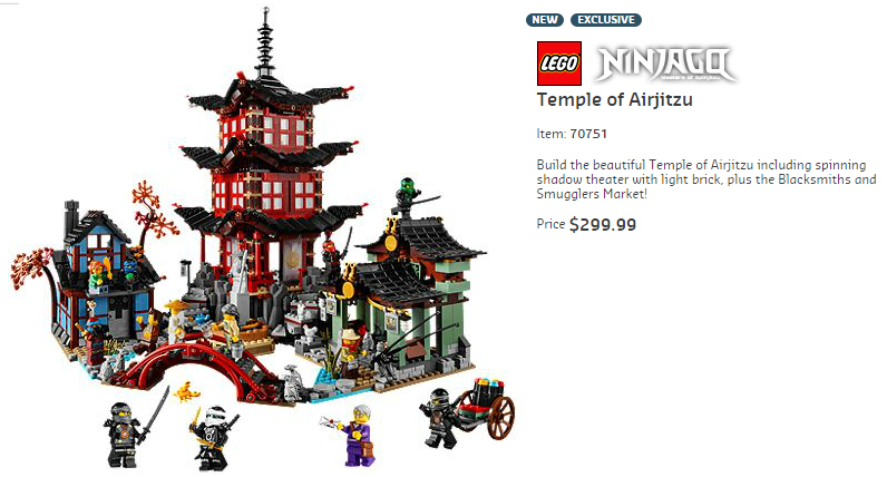 70751 Temple of Airjitzu Australian Price