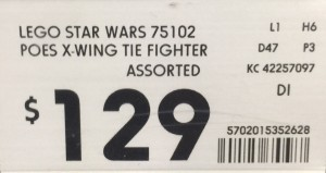 Kmart 75102 POES XWING TIE FIGHTER