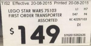 Kmart 75103 FIRST ORDER TRANSPORTER