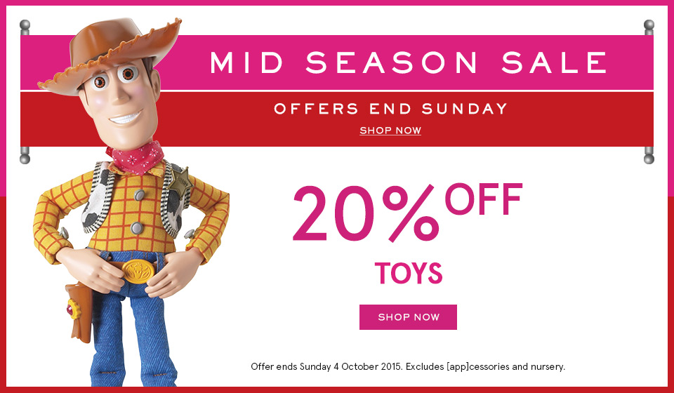 Myer October 2015 20pc Off Toys