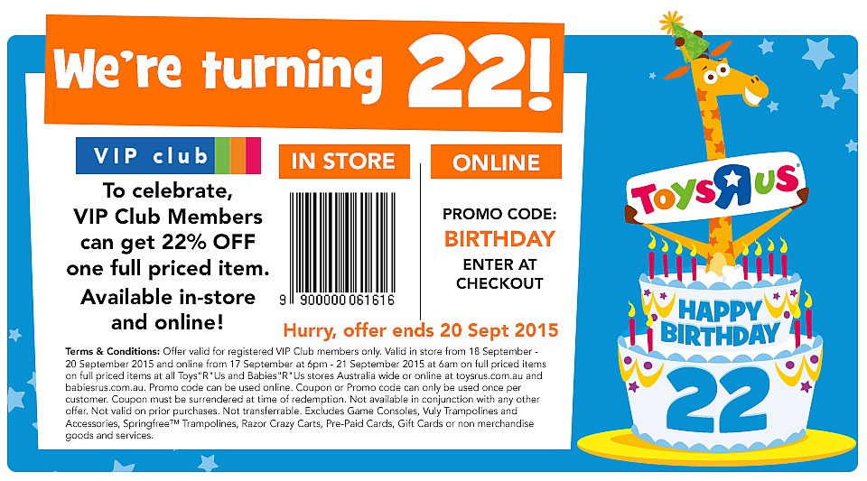 Toys R Us 22nd Birthday