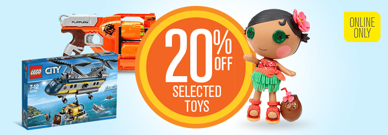 Big W 20pc Off Selected Toys Online