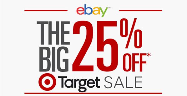 Target eBay 25pc Off October 2015