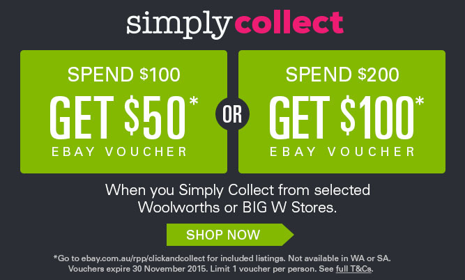 eBay October Simply Collect Offer