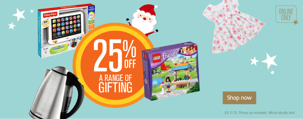 Big W 25pc Off Gifts