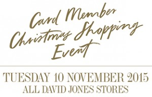 David Jones Card Members 20pc Off