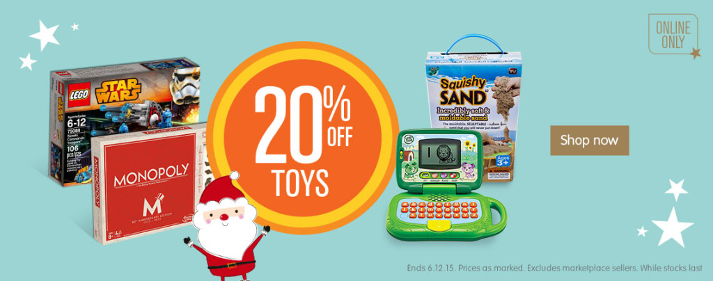 Big W 20pc Off Toys December 3 2015