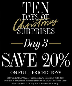 David Jones December 2015 One Day Offer