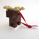 LEGO Fed Square Reindeer Ornament