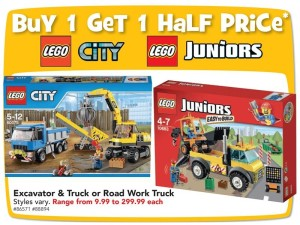 B1G1 Half Price Toys R Us January 2016