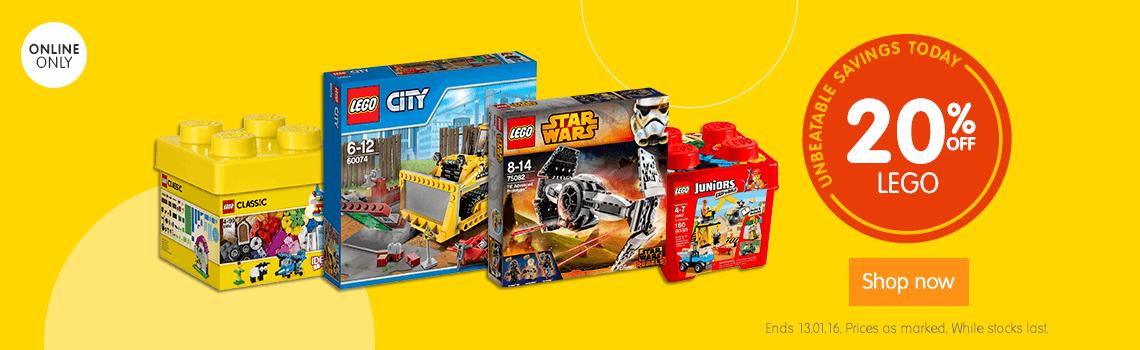 Big W 20pc Off LEGO Online