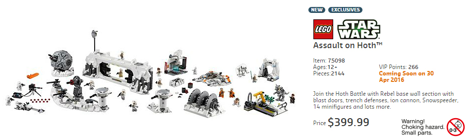 75098 Assault On Hoth Australian RRP
