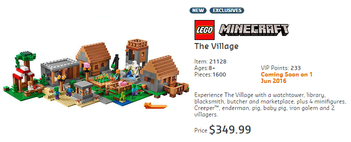 21128 Minecraft The VIllage Australian Price