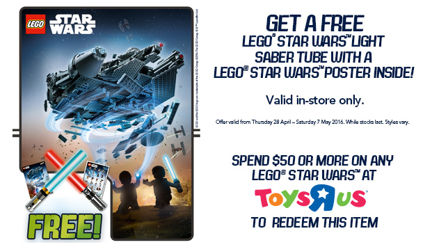 Toys R Us LEGO Star Wars Poster 2016