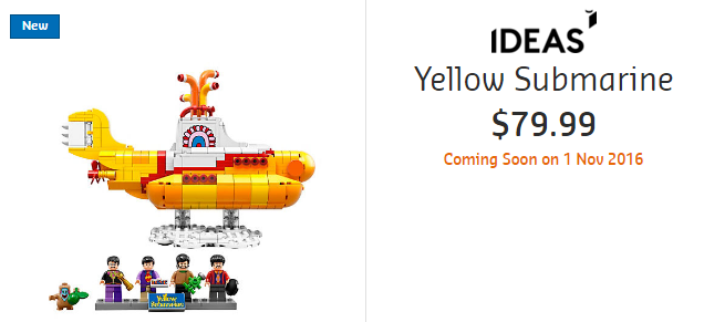 LEGO Ideas Yellow Submarine AU Price