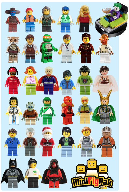 Past Minifigpak Figures