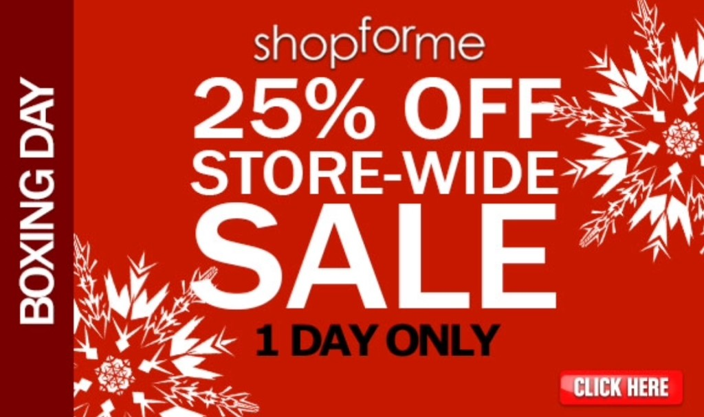 Shopforme 25 Boxing Day