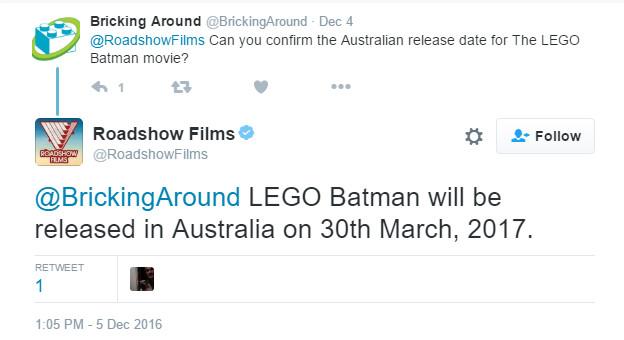 LEGO Batman AU Release