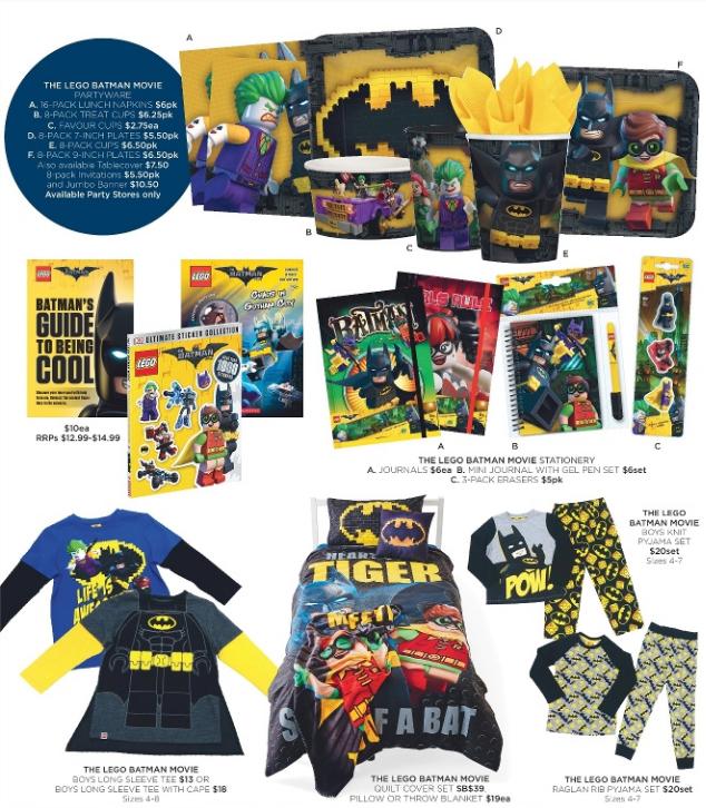 Big W LEGO Batman Merch