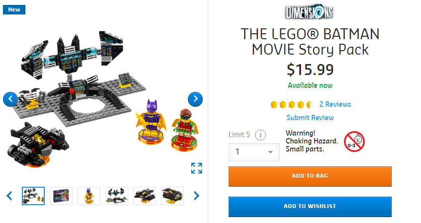 LEGO Batman Story Pack Cheap