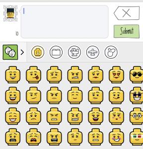 LEGO Life Emoji Keyboard