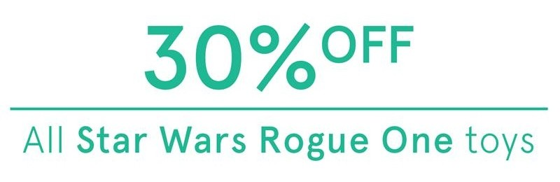 Myer April 04 2017 30pc Off Rogue One