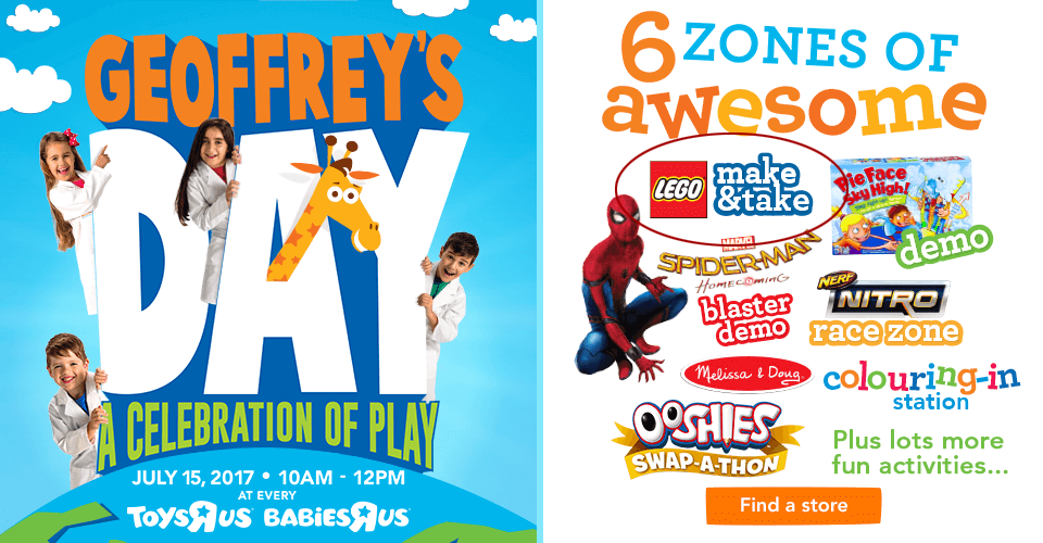 Toys R Us Geoffreys Day 2017