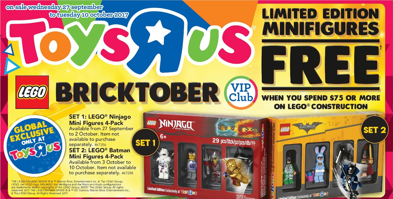 Lego Toys R Us Coupon 2017 Printable : On sale toys r us bricktober promotion bricking