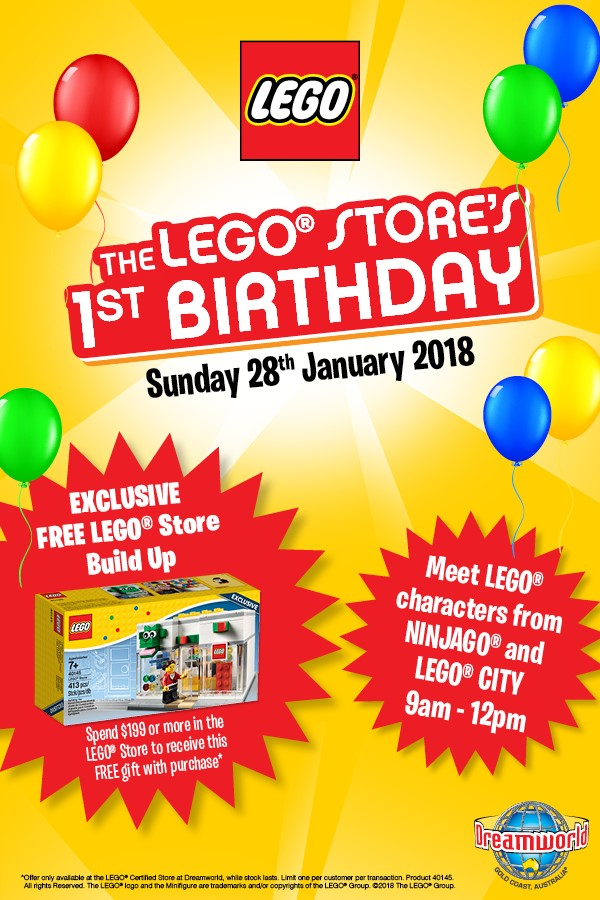 LEGO Store Dreamworld First Birthday