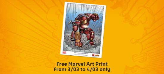 Marvel Universe Unites Hulkbuster Art Print Colour
