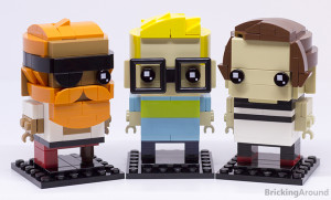 Note: The set doesn't allow you to build three BrickHeadz