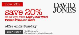 David Jones 20% Off June 2013