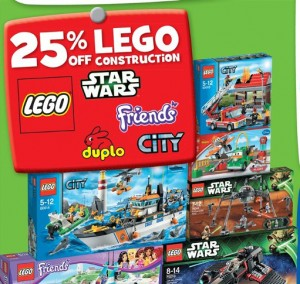 25 Percent Off LEGO ToysRUS